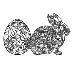 Adult Colouring - Bunny