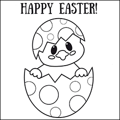Easter Chick Colouring Page