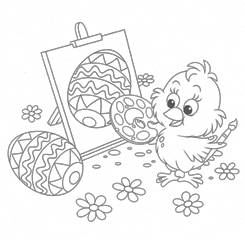 Child Colouring Page - Chick