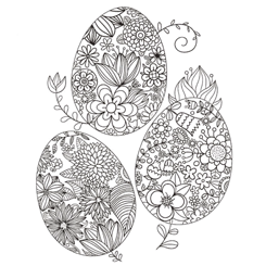 Adult Colouring Page Easter Egg